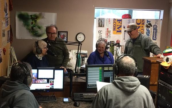 Gail, John, Susan and Rob promoting 'Seniors' at KNCP radio!